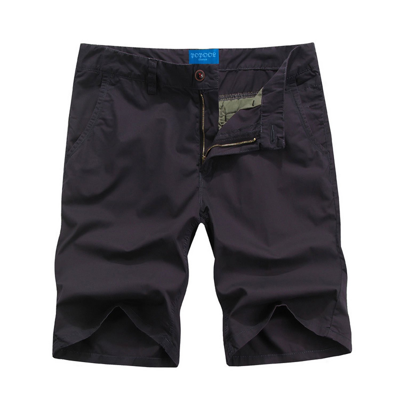 POPOOL PPYF02 Men's Casual Pants Tooling Shorts Cotton Shorts (32, Deep Purple) PPYF02DP032