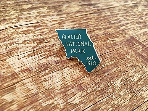 - Glacier National Park Enamel Pin, National Park Pin, Single Hard Enamel Pin with Butterfly Clutch