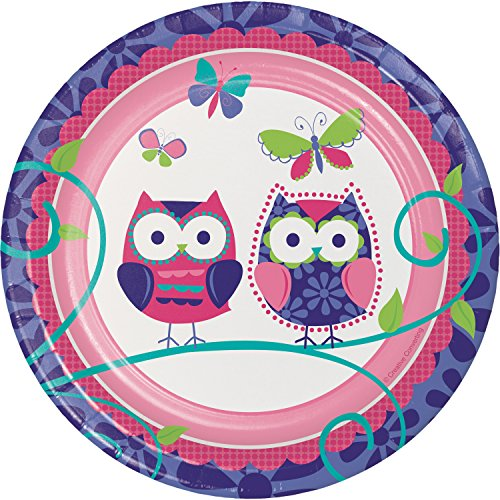 Owl Pal Birthday Dessert Plates, 24 ct]()