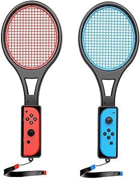 Switch - Raqueta de Tenis para Nintendo Switch Joycon, Accesorios para Mario Tennis Aces Game,Raqueta de Tenis para Switch Tennis Aces-2 Jugador (1 Pieza Azul y 1 Pieza roja): Amazon.es: Electrónica