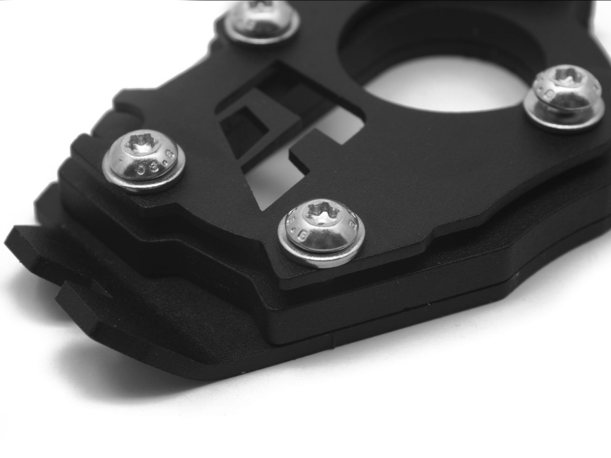 Black 2015-current AltRider R115-2-1132 Side Stand Enlarger Foot with 6mm Riser for the BMW R 1200 GS Water Cooled