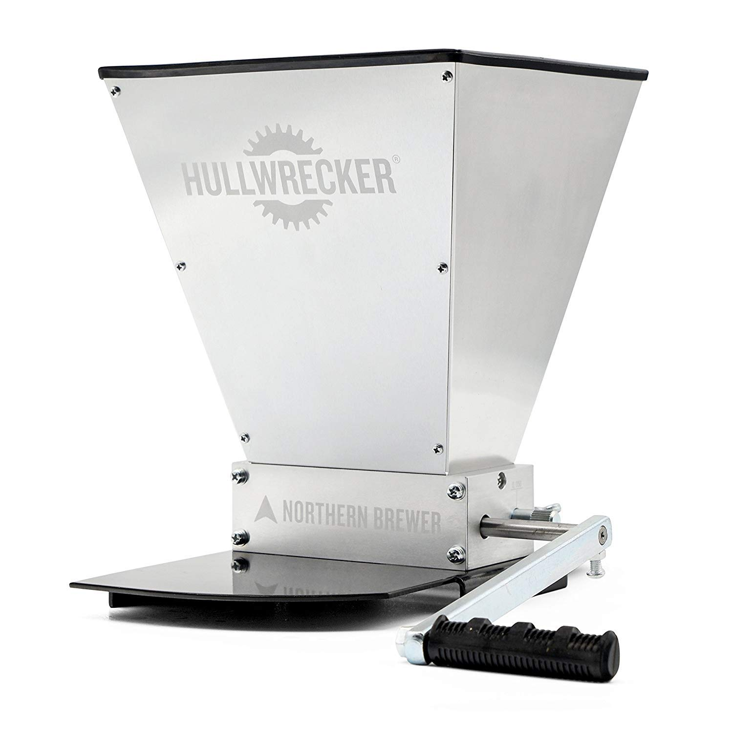 Northern Brewer - Hullwrecker 2-Roller Grain Mill with Metal Base and Handle by Northern Brewer