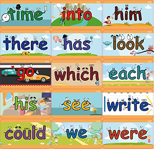 l Phonics, 200 Sight Words - 322 X-Large Early Learning Flash cards - Baby, Toddler, Preschool, Kindergarten - Little Champion Reader Level 1 Word Reading cards (Flash Learning System)