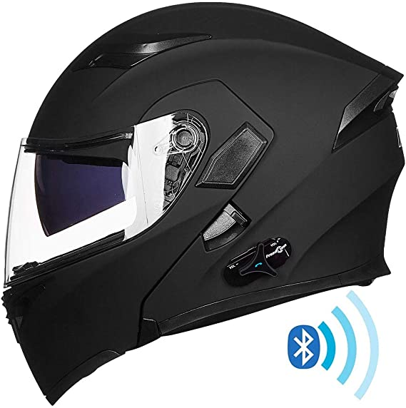 ILM Bluetooth Motorcycle Helmet Modular Flip up Full Face Dual Visor Mp3 Intercom FM Radio DOT Approved
