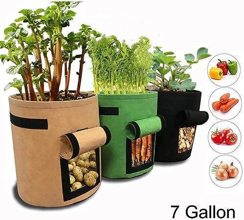 Amazon Com Gemgo 3 Pack Potato Grow Bag 7 Gallon Aeration