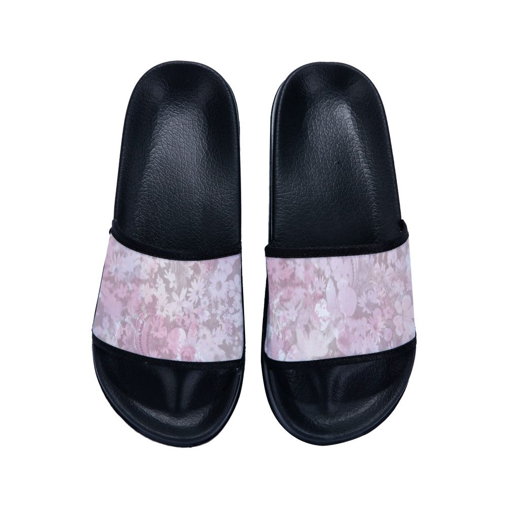 Home Slippers Pink Flower House Sandals for Summer Lightweight Breathable Fhdang Decor Unisex Open-Toe Slipper