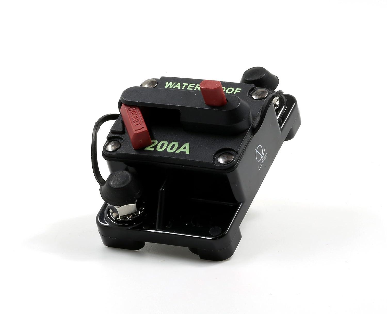 Lumision Waterproof Automotive Circuit Breaker Manual Reset upto 48VDC 200AMP LUM-BRK-200A