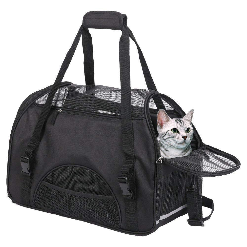Generic or Small Petsarrier Bag for S Carrier Bag Cat Carrier Airline for Small Expandable Pet Pets Cat Carrier Airline