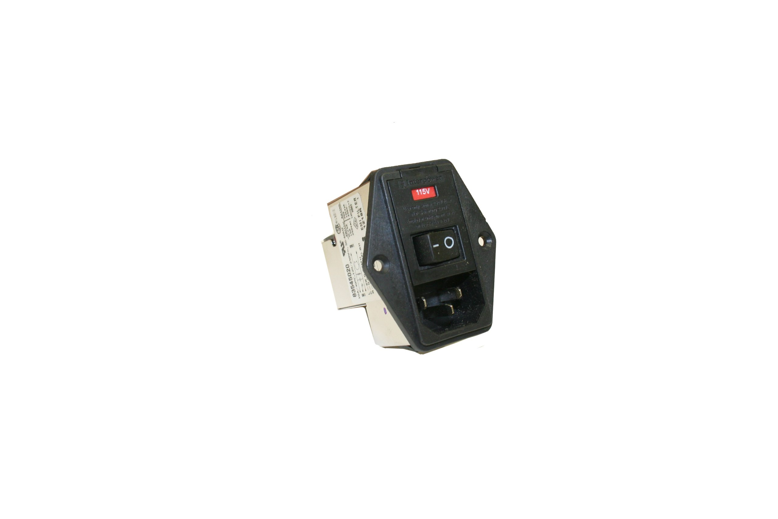 Interpower 83545020 Five Function Medical Grade Module, C14 Inlet, Switch, Double Fused, Voltage Selector, Filter, 10A Current Rating, 120/250VAC Voltage Rating by Interpower