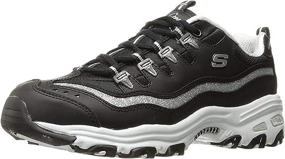 4. Skechers Women's D'Lites Memory Foam Lace-Up Sneaker