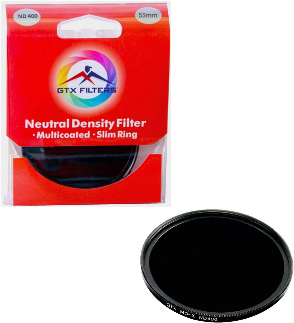 Black GTX FILTERS GF-X//ND40067 X Series ND400 67mm Camera Lens Neutral Density Filter