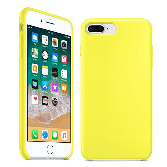 new product 27e9b b9792 iPhone 8 Plus Case, iPhone 7 Plus Case,LINDIANSHUMA Liquid Silicone Gel  Rubber Case with Soft Microfiber Cloth Lining Cushion for Apple iPhone 8  Plus ...