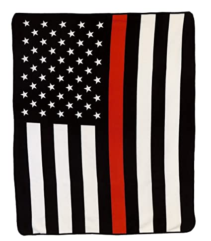 9acbbc686520df Image Unavailable. Image not available for. Color: Thin Red Line Blanket -  Support Local Firemen!