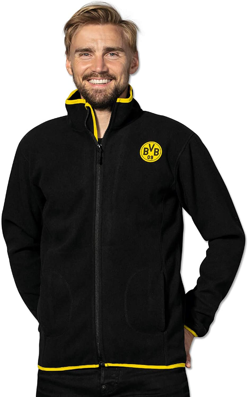 Borussia Dortmund BVB-Fleecejacke schwarz