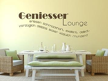Wandtattoo-bilder® Wandtattoo Geniesser Lounge Wort Wolke Nr 1 ...