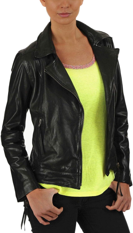 New Fashion Style Womens Leather Jackets Motorcycle Bomber Biker Black Real Leather Jacket Women