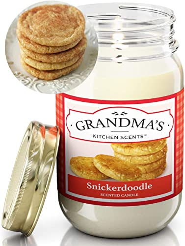 Amazon Com Snickerdoodle Scented Candles For Home Non Toxic Long Lasting Soy Candles Delicious Scent Large 16 Oz Mason Jar Hand Made In The Usa Home Improvement