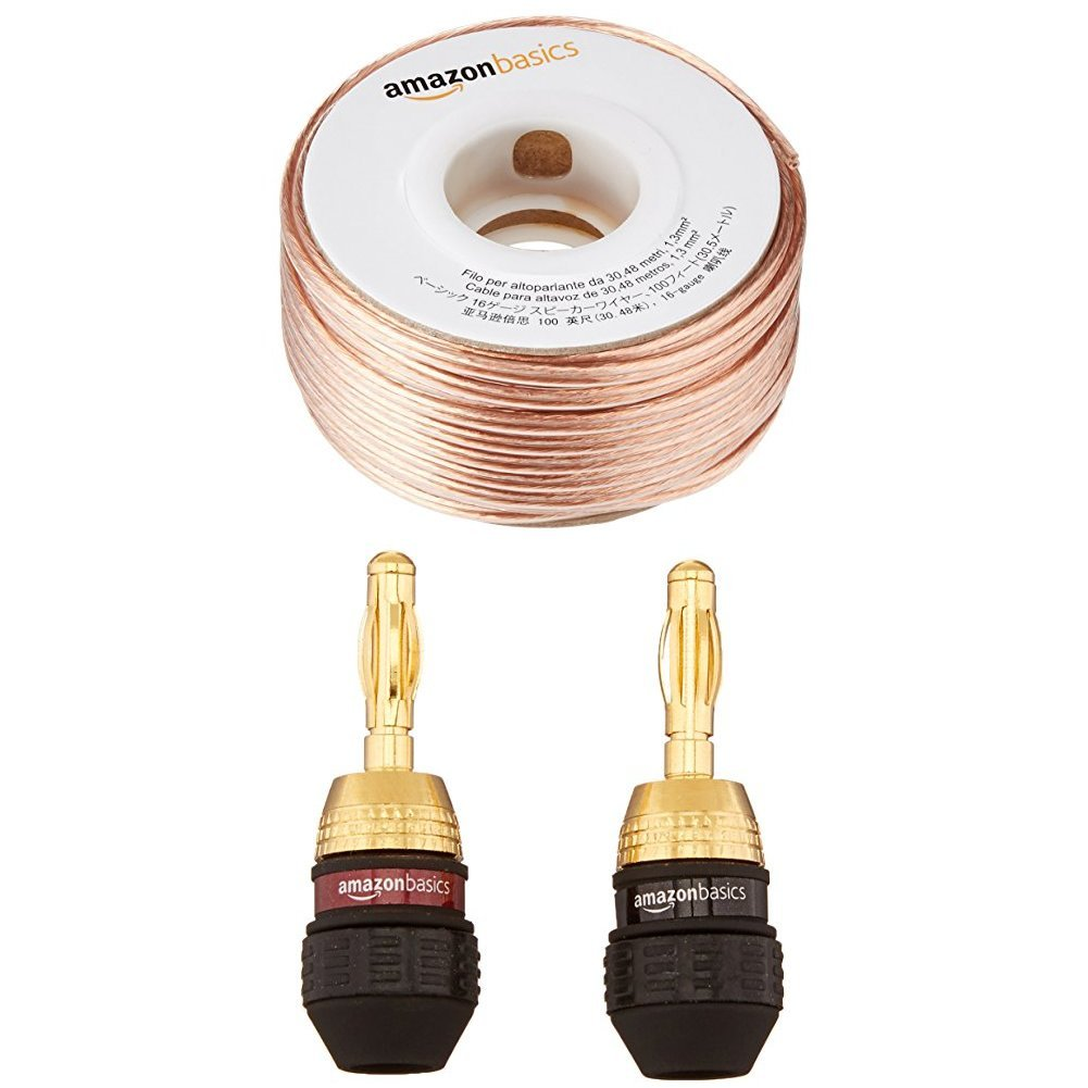 Amazonbasics 16 Gauge Speaker Wire 100 Feet Home Outdoor Wiring Audio Theater