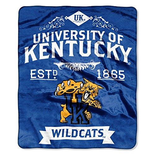 The Northwest Company Officially Licensed NCAA Kentucky Wildcats Label Plush Raschel Throw Blanket, 50