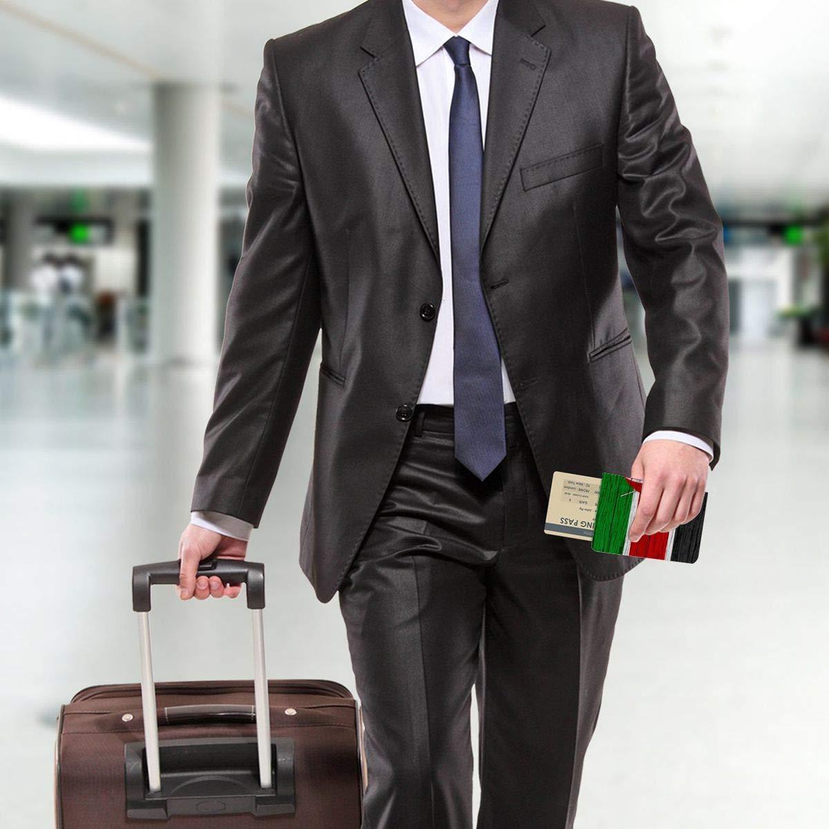 Kenya Wooden Texture Kenyan Flag Fashion Leather Passport Holder Cover Case Travel Wallet 6.5 In