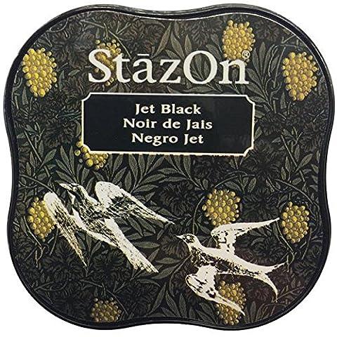 Tsukineko StazOn Midi Ink Pad, Jet Black (Jet Midi)