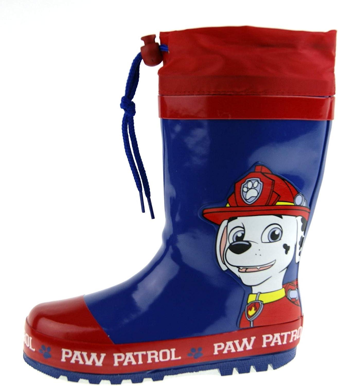 Paw Patrol Botas Wellington corbatas para niños, color Azul, talla ...