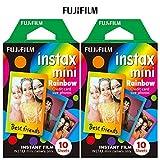 Fujifilm INSTAX MINI Rainbow Instant Film - 2 Pack of 10 Photos (20 Photos)