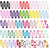 130pcs Hair Clips, Teenitor No Slip Metal 2 Inch Snap Barrettes Girls Women