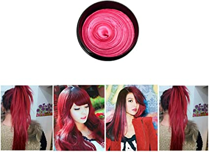 Tinte de pelo crema de cera, mumustar 8 Colors lavable ...
