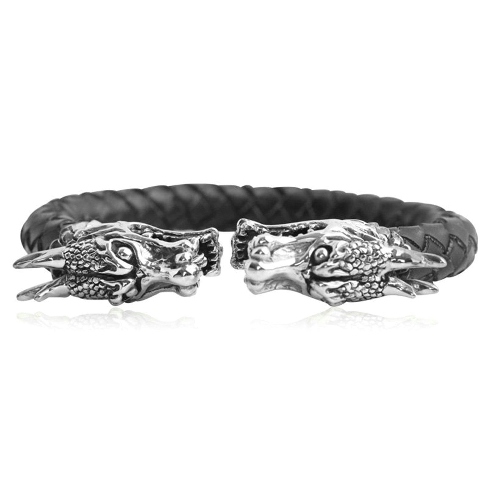 Daesar 925 Silver Bracelet For Men Faucet Opening Bracelet Black