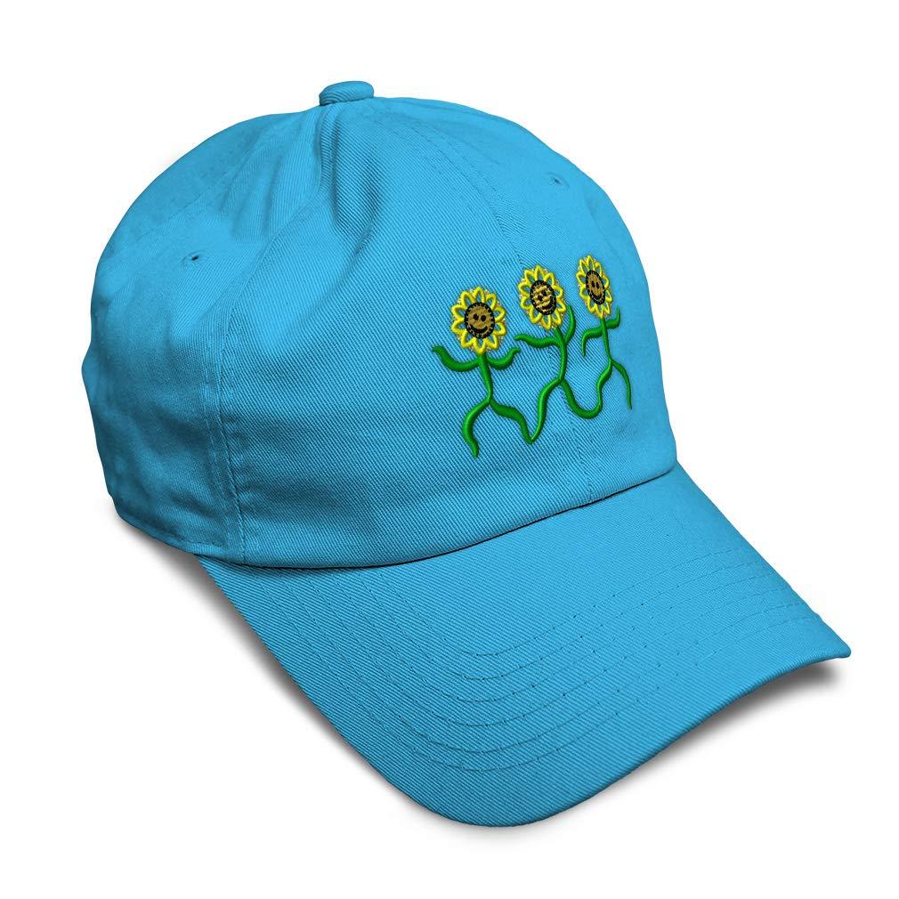 Custom Soft Baseball Cap Dancing Sunflowers Embroidery Dad Hats for Men /& Women