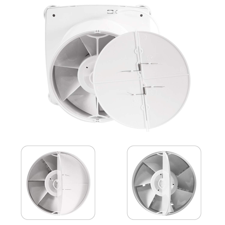 Hon/&Guan 150mm Ventilador Extractor de Aire Silencioso 197m/³//h para Oficina Dormitorio Ba/ño