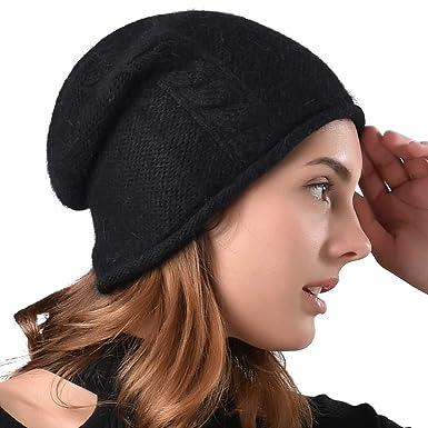 f0a688c0e FURTALK Womens Slouchy Beanie Hat - Fall Winter Soft Knit Wool Ski ...