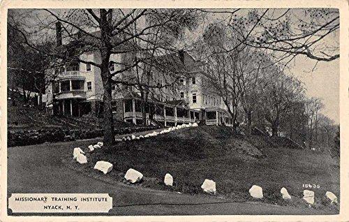 Nyack New York Missionary Training Institute Antique Postcard J70717