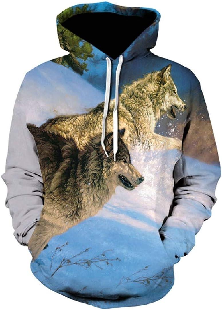 Animal 3D Wolf Funny Tracksuit Print Coat Pullover Hip Hop Sweatshirt