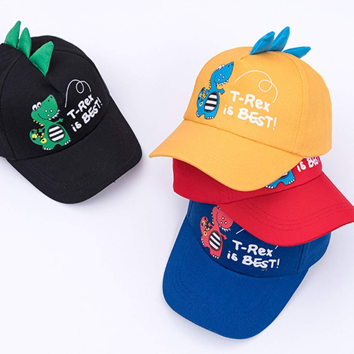 puseky Kids Boys Girls Cute Dinosaur Printed Adjustable Baseball Cap Cartoon Fashion Sun Hat