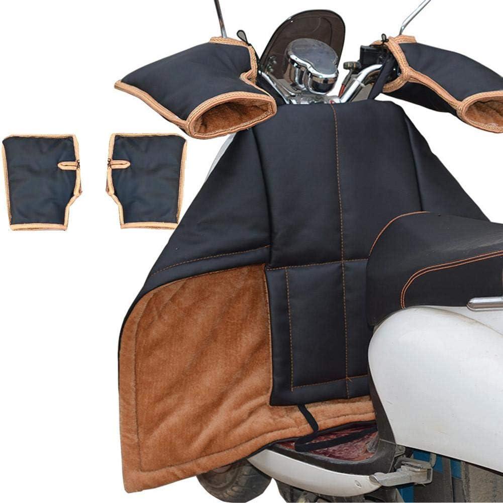 greatdaily Beinschutz Roller Winter beinschutzdecke beinabdeckung Motorroller PU Universal Regenschutz Motorroller mit Lenkerhandschuhe Radsport Handschuhe Motorrad wetterschutz