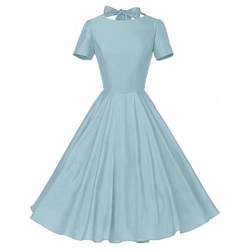 GownTown Womens 1950s Vintage Retro Party Swing Dress Rockabillty Stretchy Dress