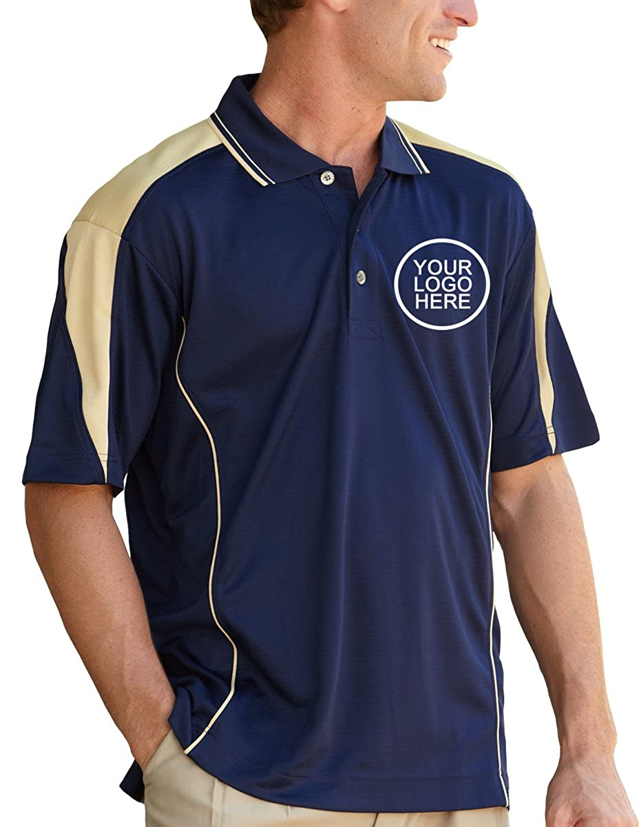 Pro Celebrity Mens Maverick Vegas Polo Shirt With Custom School