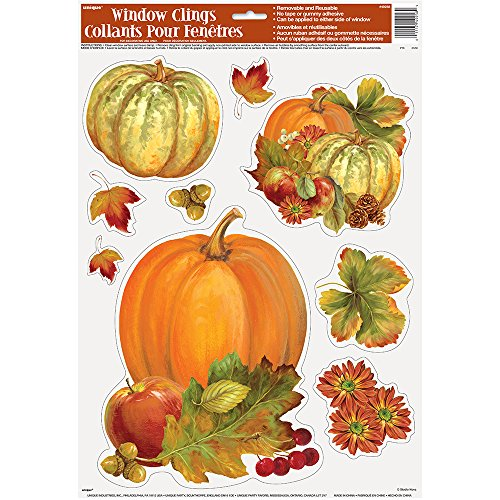 Pumpkin Harvest Fall Window Cling Sheet -