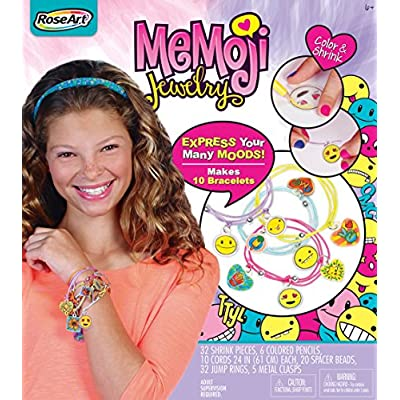RoseArt Memoji Color N Shrink Jewelry, Bracelets: Toys & Games