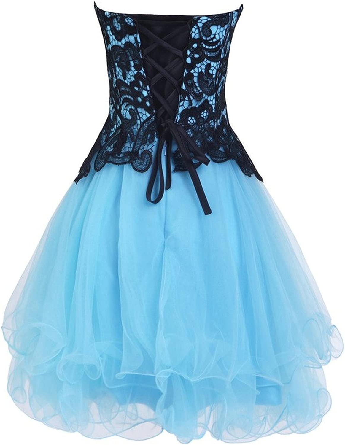Sweet Bridal Womens Sweetheart Tulle Short Prom Dress Homecoming Dress