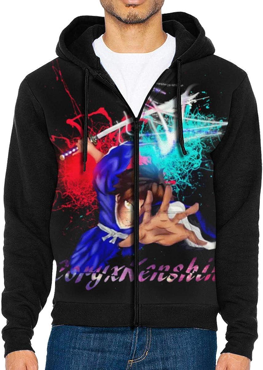CXK-Best Samurai Mens Jacket Printed Hoodie Sweatshirt Full Zip Casual Hat Pocket Pullover Sweater