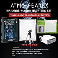 Amosfearfx Macabre Manor Video Ultimate Projector Bundle.Includes Projector, Dvd, Translucent Window Screen And Hologram Screen Stand Kit.