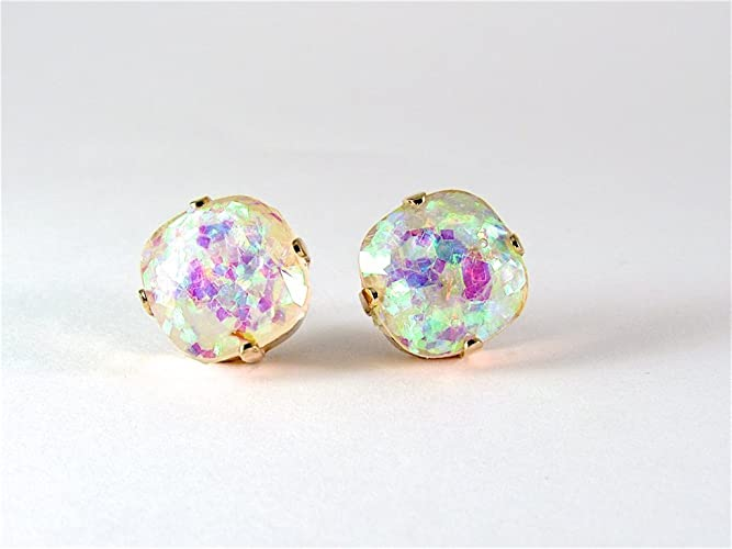 sparkle earrings resin drop light blue teardroplightbluesparkleglitter tear glitter