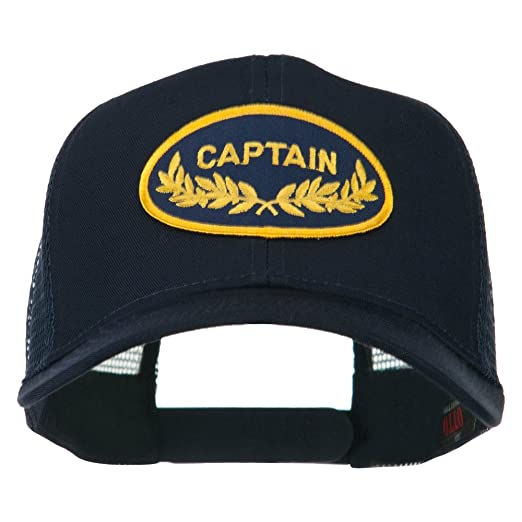 3a544e09314 Captain Oak Leaf Military Patched Mesh Back Cap - Navy OSFM at ...
