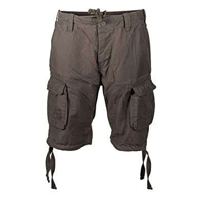Amazon.com  Surplus Men s Airborne Vintage Shorts Washed Olive  Clothing c8f22e97fa93e