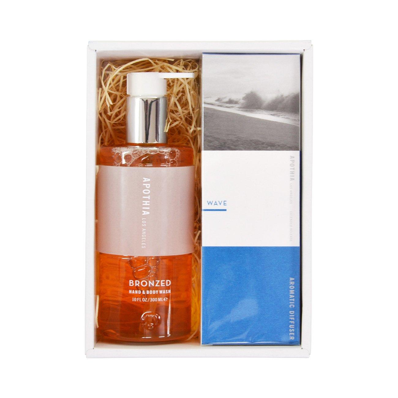 APOTHIA Diffuser mini WAVE & Hand&Body wash WAVE GIFT SET (アポーシア ディフューザーミニ ウェーブ & ハンド&ボディウォッシュ ウェーブ ギフトセット) B079P3FBDR