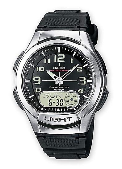 2cf7edadd177 Casio Reloj de Pulsera AQ-180W-1BVES  Amazon.es  Relojes