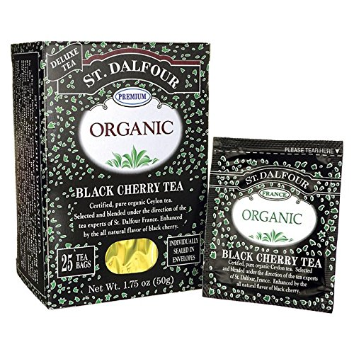 St. Dalfour Organic Tea, Black Cherry, 25 ct